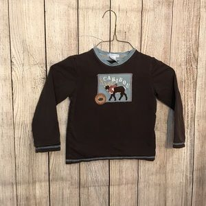 Janie And Jack Reversible Caribou Top
